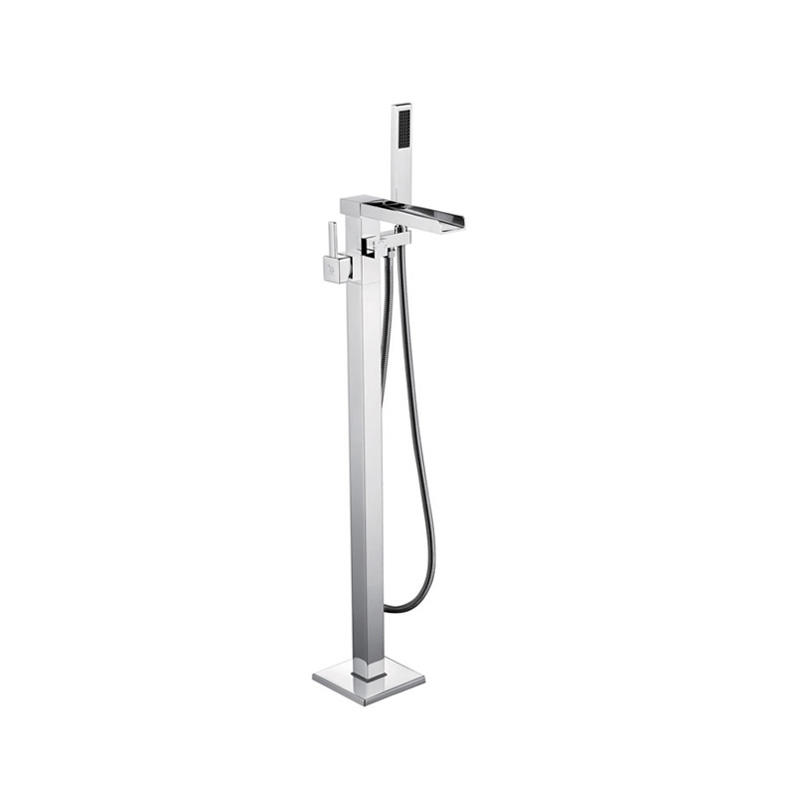 Single Handle Brushed nichel Floor Mounted Clawfoot Tub Faucet Modern Design Single Handle Floor Free Stand Bathtub Faucet  F01