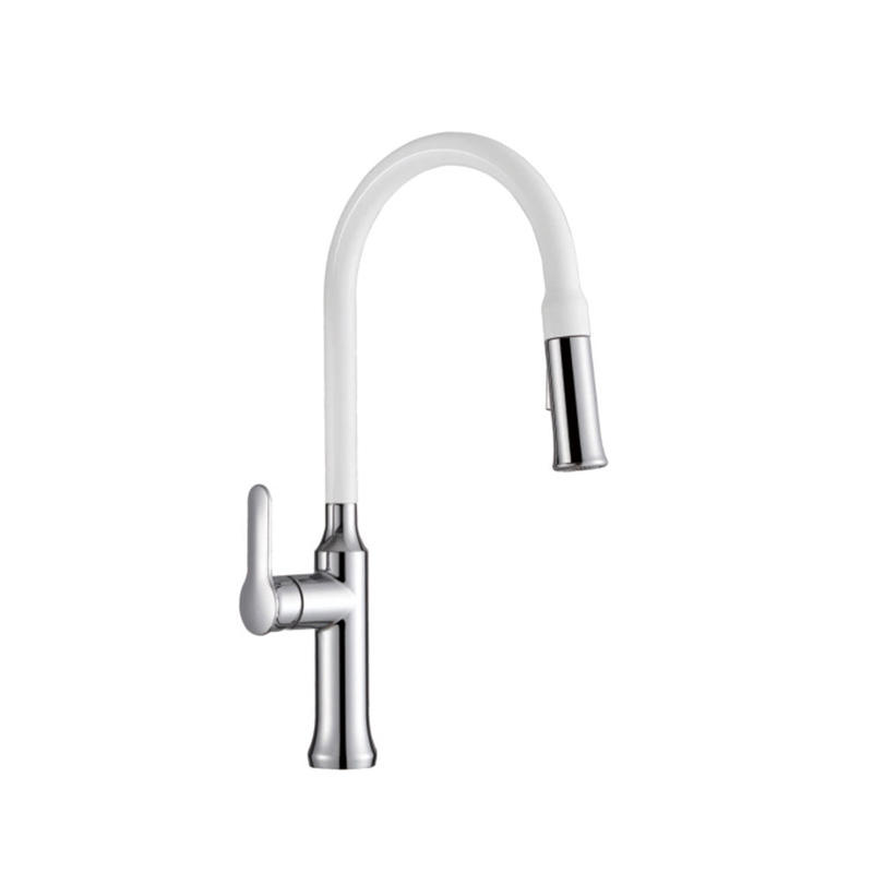 Single Handle 18-inch Commercial Kitchen Faucet with Dual Function Pull-Down Sprayhead-F80300